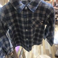 小童格子衬衫