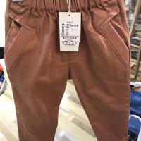 小童口袋螺纹长裤