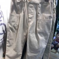 针织裤打扣长裤