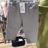 小童双扣裤