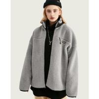 街头阔版羊羔毛卫衣