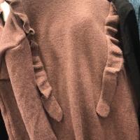 绵羊绒花边衫