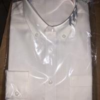 領灰印條長襯衫