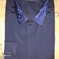 领刺长衬衫