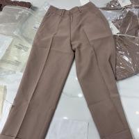 SIM粉色直筒裤