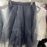 灰色纱裙半身裙