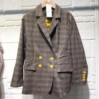 时尚格子外套