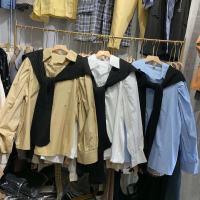 秋款中长款衬衫两件套