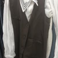秋款衬衫两件套
