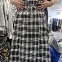格子半身裙