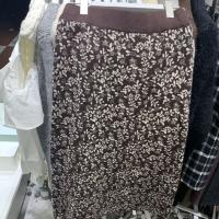 小花针织半身裙