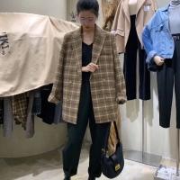 欣尧格子大衣