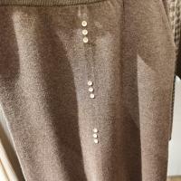 裙子三粒扣口袋羊毛