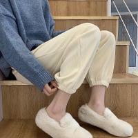 束脚直筒哈伦裤