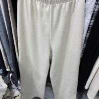 磨毛阔腿裤