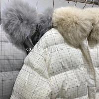 小格子羽绒棉外套