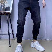 加绒牛仔裤