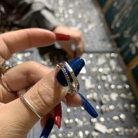 纯银双杠戒指
