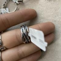 五条线字母戒指