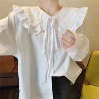 翻领白衬衣