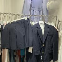 西装百褶短裙套装