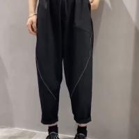 明线休闲裤