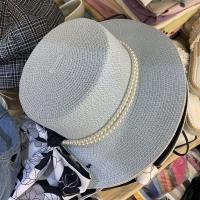 珍珠拉菲草帽