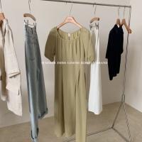 棉麻连衣裙