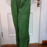 扣袢绣花长裤