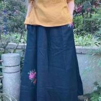 绣花半身裙